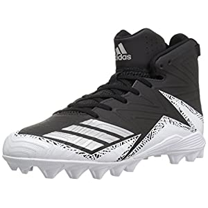 adidas Performance Men's Freak Mid MD Football Shoe, Black/Metallic Silver/White, 13 Medium US