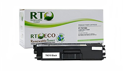 Renewable Toner TN-310BK Compatible Black Laser Cartridge Replacement for Brother HL-4150CN MFC-9460CN MCF-9560CDN MFC-9970CDW