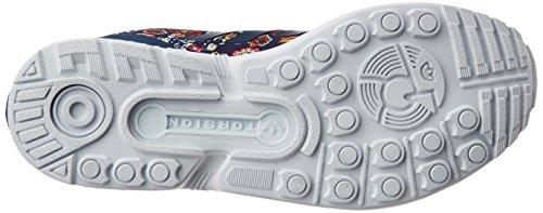 Zapatillass ZX FLUX W off white/off white/mid grapef07 16/17 Adidas Originals Multicolor (St Dark Slate F13/st Dark Slate F13/ftwr White)