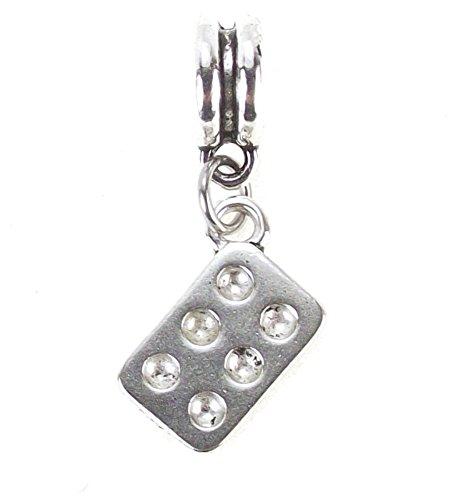 Kitchen Utensil Dangle Charm Large Hole Bead for European Charm Bracelet (Muffin (Hole Bake Pan)