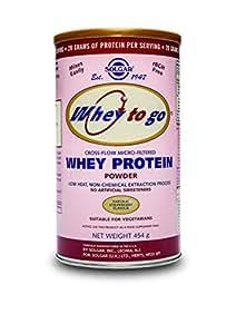 Solgar, Whey To Go Protein Powder (Natural Strawberry) (16 oz.), 454 g