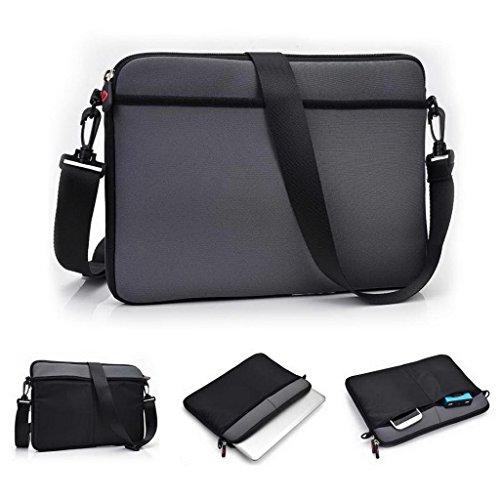 Kroo Universal Laptop Netbook Messenger Laptop/Universal Tasche passend für LG G Pad 10.1 schwarz schwarz grau