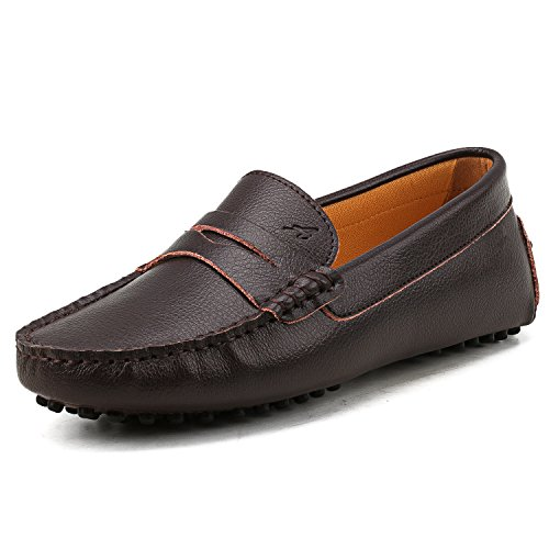 sic Driving Loafer Slip-on Shoes V7052, Coffee, 6.5US 37 ()