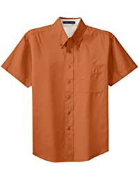 Amazon.com: Orange - Casual Button-Down Shirts / Shirts: Clothing ...