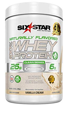 Six Star Naturally Flavored Whey Protein Plus
