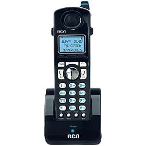 RCA H5401RE1Visys - Teléfono (DECT, Negro, Plata, Auricular, 100 entradas, Azul)
