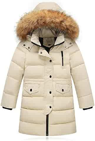 61a95daf LJYH Big Children Winter Warm Down Parka Thick Hooded Detachable Outwear  Coat