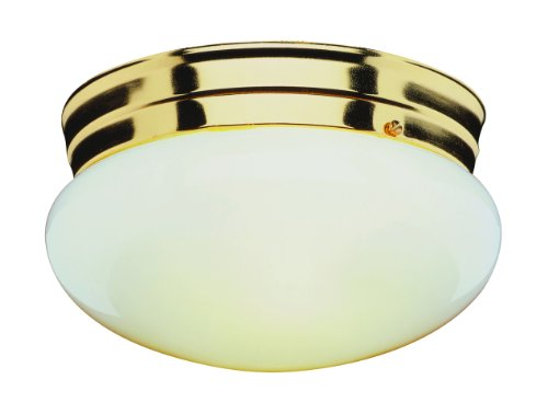 Trans Globe Lighting 3618 PB 1-Light Flush-Mount, Polished Brass