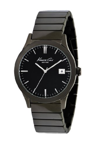 Kenneth Cole New York Men's KC9117 Classic Triple Black Black Stainless Steel Watch  - Second Designer Sunglasses Hand