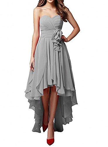 Botong Demoiselle D'honneur Chérie Robe Pourpre De La Robe De Bal En Mousseline De Soie Épaule Robe De Soirée De Mariage Gris