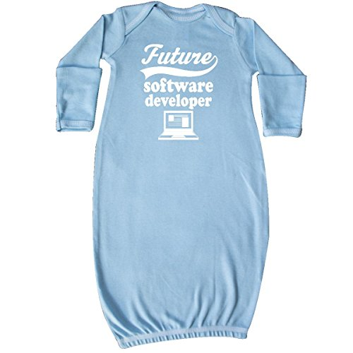 Inktastic Baby Boys Future Software Developer Shirt Childs Job Baby Layette Sleepers Light Blue