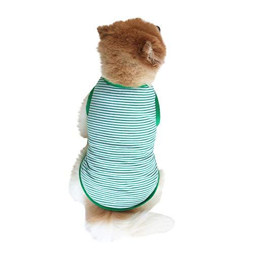 Clearance Pet Clothes Cinsanong Striped Puppy Vest Summer Small Dog Cat Vest Lovely Fashion Pet T Shirt