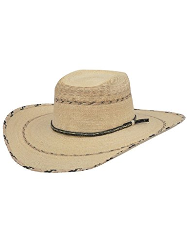Alamo Stampede Rattlesnake Palm Hat With Rode Crown (6 3/4)