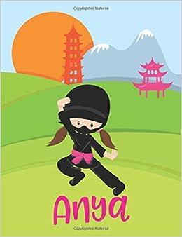 Anya: Lined Notebook (Ninja Girl Cover): Amazon.es: Urban ...