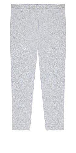Popular Big Girls' Cotton Capri Length Leggings - Heather Grey - 10/12 (Leggings Kids)