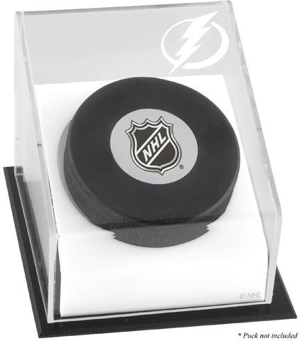 Tampa Bay Lightning Hockey Puck Logo Display Case (Acrylic Nhl Hockey Puck)