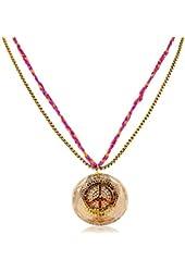 Betsey Johnson Peace Emblem Necklace Womens Fashion Jewelry