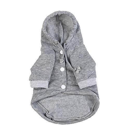 BingYELH Pets Dog Clothes Hoodie Jacket Puppy Hooded Pullover Sweatshirt Cotton Winter Warm -