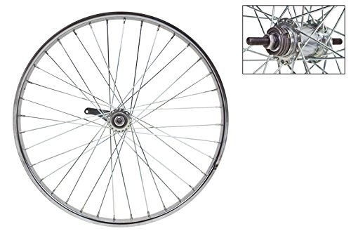 Wheel Master Rear Bicycle Wheel 24 x 2.125 36H, Coaster, Bolt On, Silver ()