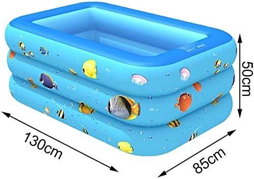 インフレータブルプールPVCインフレータブルプールキッズプール夏の赤ちゃん屋外漫画肥厚(カラー:オーシャンワールドL、サイズ:1)、サイズ:1、色:魚Sの学校 (Color : Ocean World L, Size : 1)