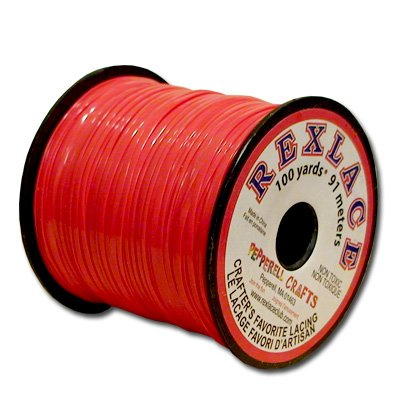 Springfield Leather Companys Rexlace Red Plastic Lace