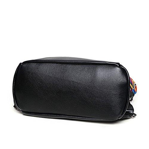 pour à sac Vintage à sac ville cuir sac quotidien Moyen les à dos en chaud véritable noir Grand dos femmes GSHGA sac occasionnel à dos dos cuir en B sac wnWPqfZHt