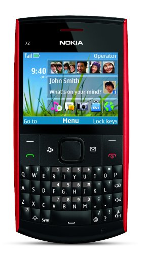 Nokia X2-01 Unlocked GSM Phone-U.S. Version with Warranty (Red)