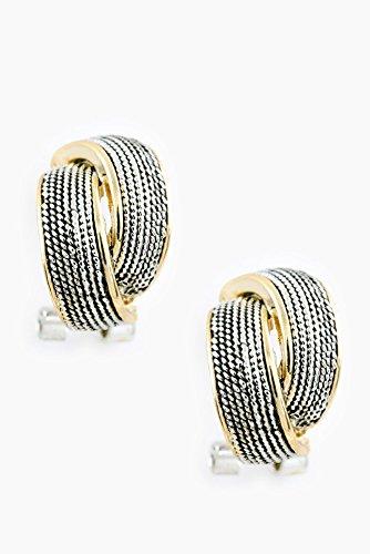 Karmas Canvas Two Tone Ropes Braid Earring