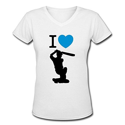 HUASH Woman's Love Cricket T-Shirts White