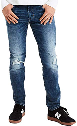 American Eagle Mens 01164370 Ne(X) t Level Slim Straight Jean, Medium Destroy (26x28)