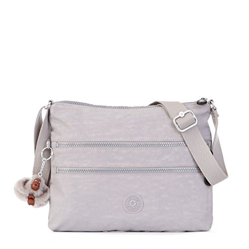 Crinkle Leather Tote - Kipling Women's Alvar Solid Crossbody Bag, Slate Grey