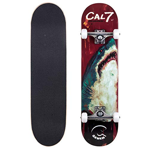 (Cal 7 Complete Skateboard, Popsicle Style with 5.25 Inch Trucks & 100A Wheels for Kids & Adults (8