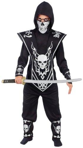 Lord Ninja Costumes Kids (Fun World Skull Lord Ninja Child Costume Black Medium)
