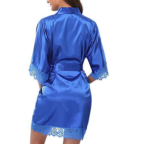 Traje Suave Casual Interior Azul De Encaje Mujer Lencería Satén Vjgoal Pijamas Ropa Sedoso Y Dormir Erótica gqW7Rxfw8