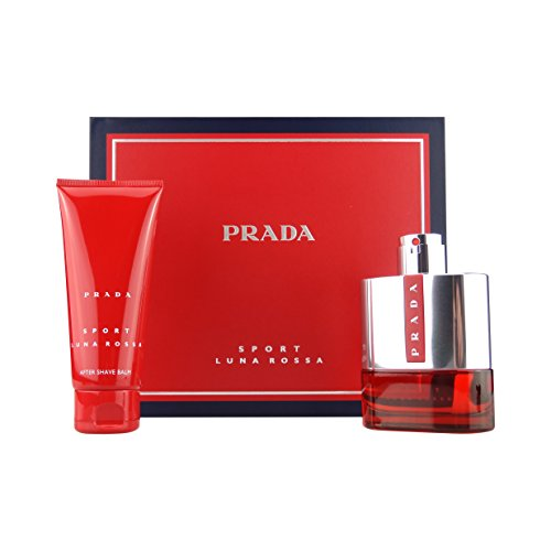 Prada Luna Rossa for Men Gift Set - 3.4 oz EDT Spray + 3.4 oz Aftershave - Prada Gifts