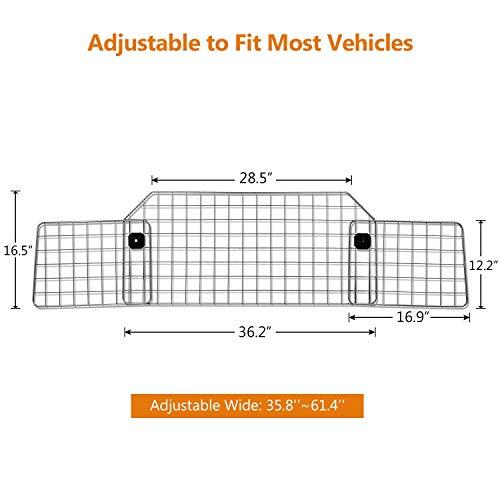 Sailnovo Dog Barrier for Car SUV Vehicles, Adjustable Pet Barrier Wire Mesh Dog Car Barrier for Cargo Area - Universal Fit by Sailnovo (Image #2)