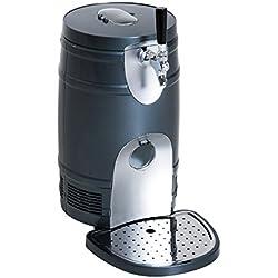 HOMCOM 5 Liter Mini Kegerator Beer Cooler Dispenser Portable -Black