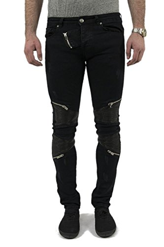 jeans sixth june m2245hde biker noir