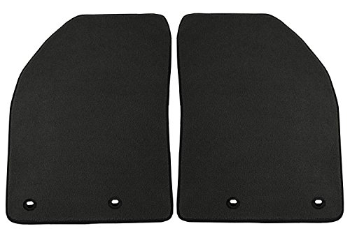 Coverking Front Custom Fit Floor Mats for Select Jaguar XF Models - 40 Oz Carpet (Charcoal) by Coverking