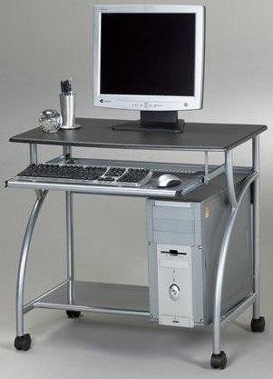 Jupiter Computer Cart - Mayline 947 Computer Cart on Wheels Anthracite by Mayline