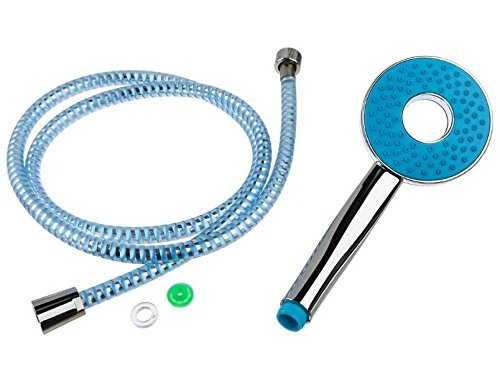 colores surtidos JJA 123479 Tubo de ducha /Flexible con alcachofa de acero inoxidable y pl/ástico ABS