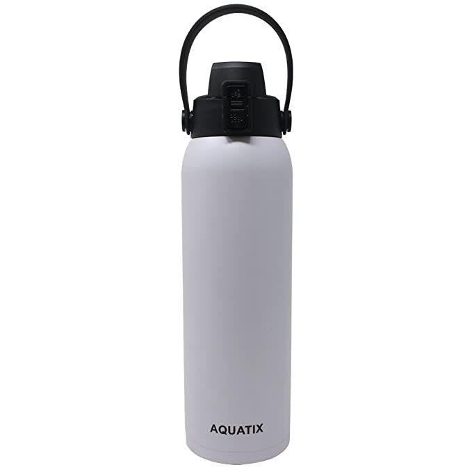 Amazon.com: Aquatix - Botella de agua deportiva con doble ...