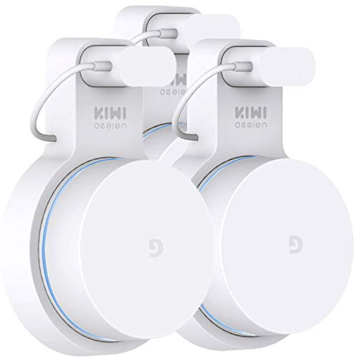 Google WiFi Wall Mount 3 Pack, Google Mesh Holder Without Messy Wires or Screws by KIWI design (White 3 Pack)