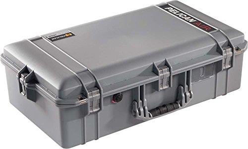 Pelican 1605 Air Protector Case, with Foam, Silver, 016050-0000-180 by Pelican