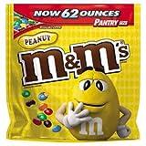 Peanut M&M's Chocolate Candies, Pantry Size 62 oz. Resealable Bag