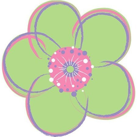Poppies Green Dot Wall Pops Set of 4