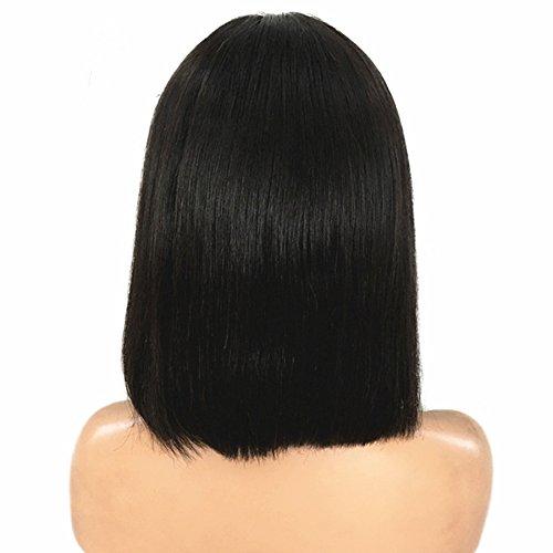 Amazon.com : Fabeauty Hair Lace Front Wigs For Women Straight Brazilian Virgin Human Hair Short Bob Wigs Bleached Knots Glueless Lace Wigs (10) : Beauty