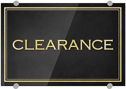 Classic Gold Premium Acrylic Sign Clearance CGSignLab 36x24