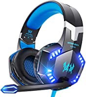 VersionTECH. G2000 Gaming Headset for PS5, PS4, PC, Xbox One, Surround Sound Over Ear Headphones with Mic, LED Light for...