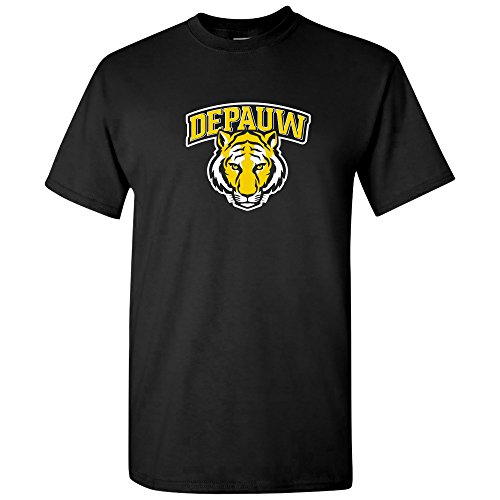 (AS03 - DePauw Tigers Arch Logo T-Shirt - Small - Black)